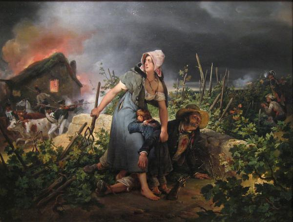 Scène de la campagne de France, toile d'Horace Vernet