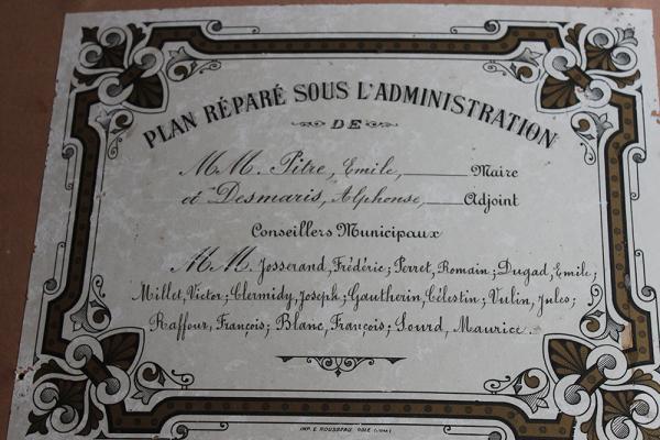 Equipe municipale ayant mis en place ce cadastre napoléonien
