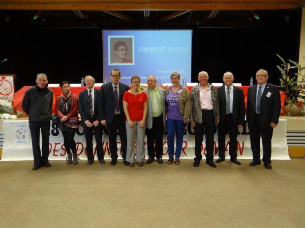 membres du comité régional,départemental et de l'amicale des donneurs de sang et élus