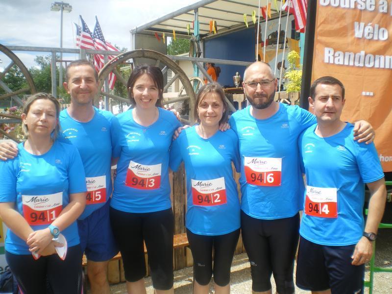 Participation au marathon des entreprises et associations le 11 juin 2016